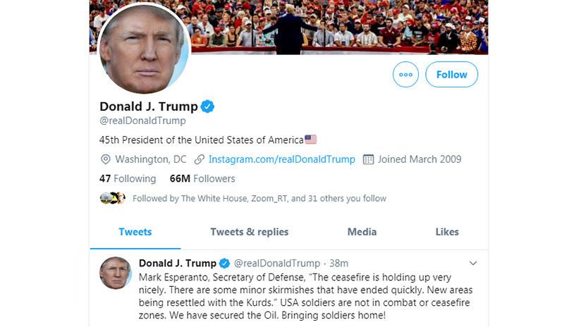 ¿Un error del autocorrector del celular?: Trump confunde el apellido del secretario de Defensa de EE.UU.