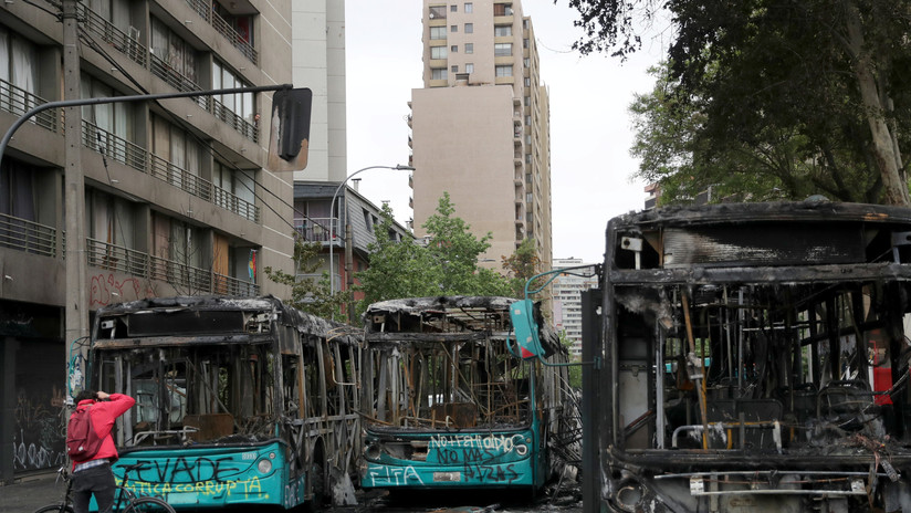 Protestas en Chile: Más de 20.000 hogares se quedan sin luz en la Región Metropolitana
