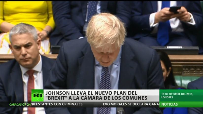 Boris Johnson lleva el nuevo plan del Brexit al Parlamento británico