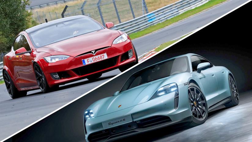 VIDEO: Tesla Model S y Porsche Taycan compiten en su primera carrera frente a frente (y uno de ellos humilla a su rival)