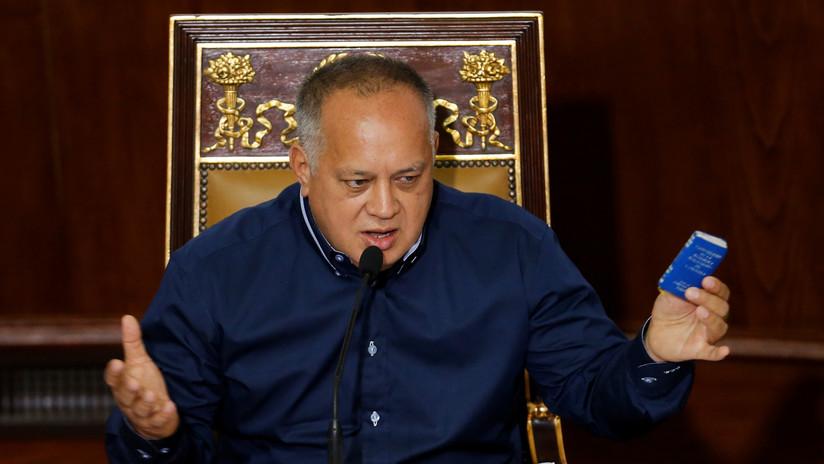 Cabello anuncia que se abrirá una investigación contra Guaidó por los bonos PDVSA 2020