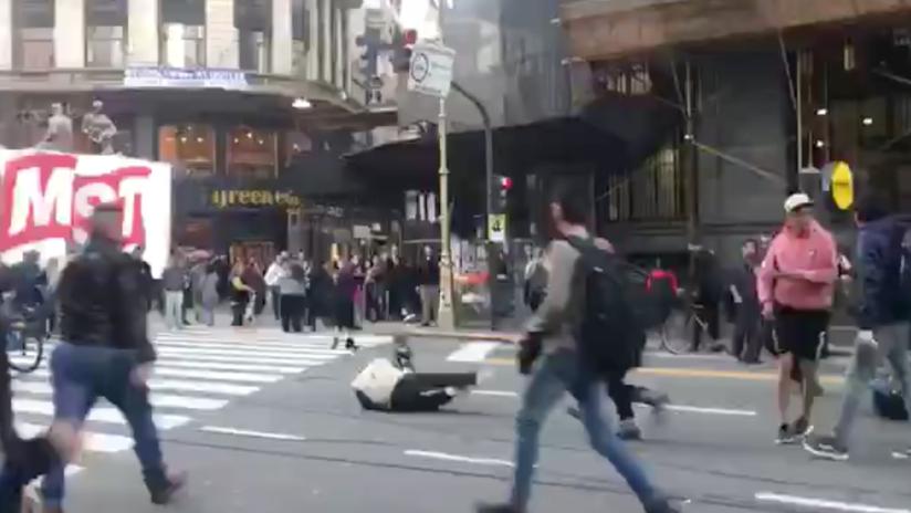 VIDEO: Incidentes, periodistas heridos y nueve detenidos en una protesta frente al consulado de Chile en Buenos Aires
