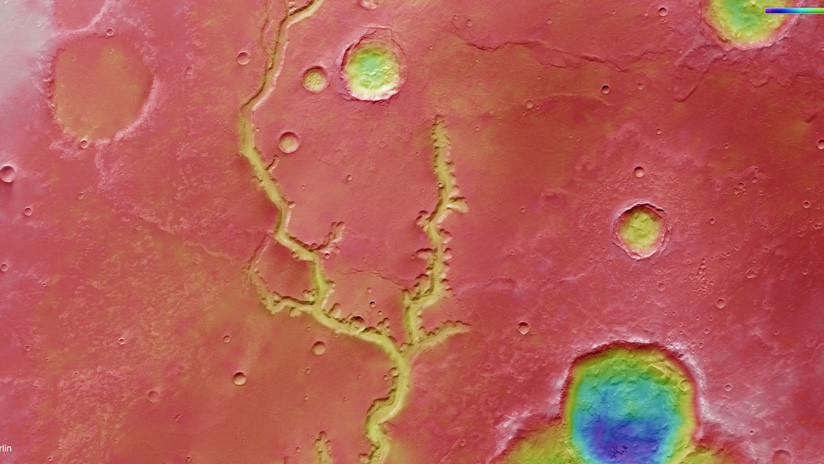FOTOS: La sonda Mars Express 'espía' una extensa red de ríos marcianos extintos