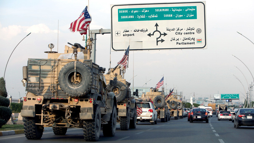 VIDEO: Civiles kurdos bloquean el camino a las tropas de EE.UU. en Irak