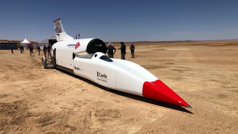FOTOS: Comienzan las pruebas del coche supersónico Bloodhound para batir el récord mundial de velocidad