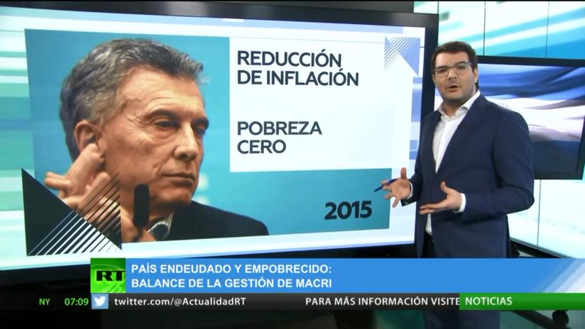 Argentina: El balance de la gestión de Macri muestra un país endeudado y empobrecido