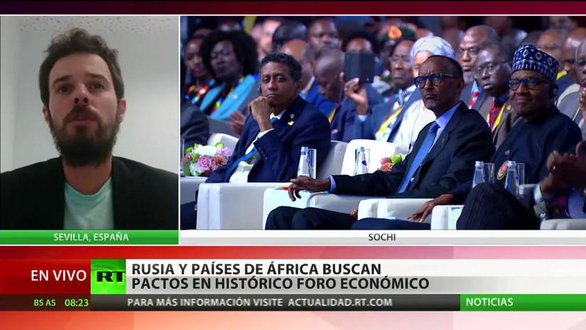Rusia y países de África buscan pactos en un histórico foro económico