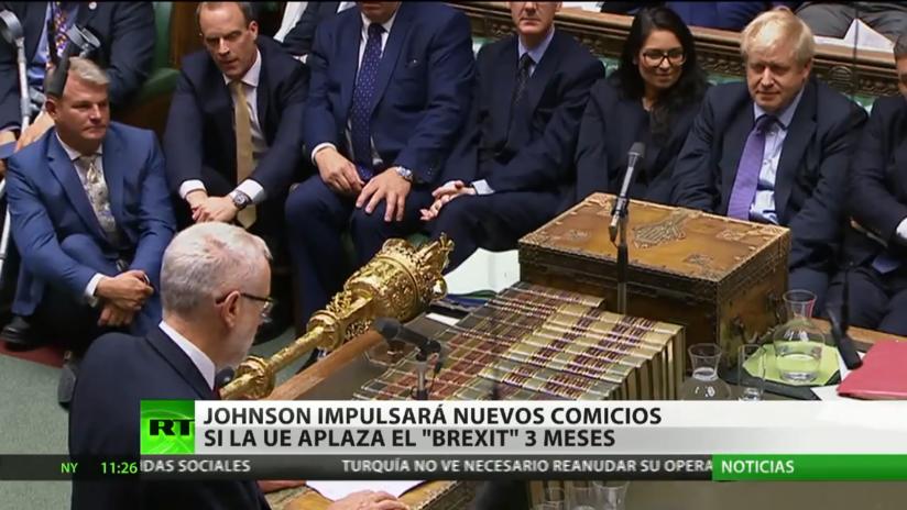 Boris Johnson impulsará nuevos comicios si la Unión Europea aplaza el Brexit