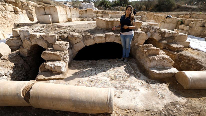 """FOTOS: Abren al público en Israel una cripta de un """"glorioso"""" mártir de hace 1.500 años"""