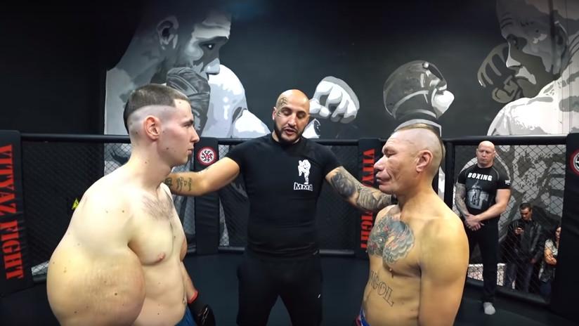 VIDEO: El 'brazos de bazuca' ruso debuta en las MMA contra un bloguero 20 años mayor que él y acaba estrangulado