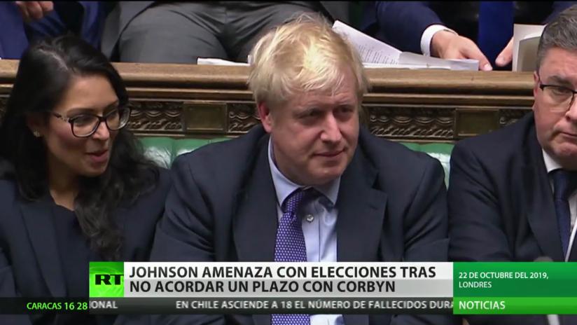 Boris Johnson amenaza con elecciones en caso de prórroga del Brexit