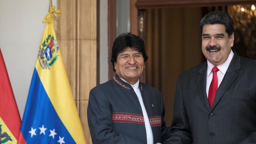 """Maduro denuncia """"una conjura"""" en Bolivia y expresa la solidaridad de Venezuela con Morales"""