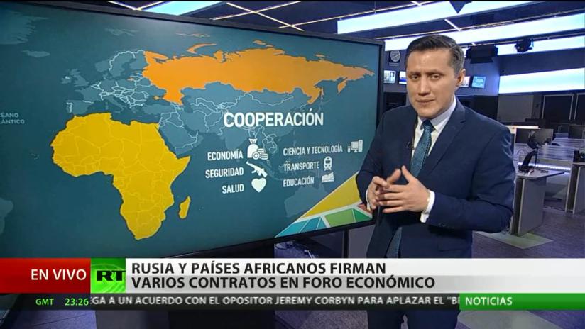 Rusia y países africanos suscriben contratos en un foro económico