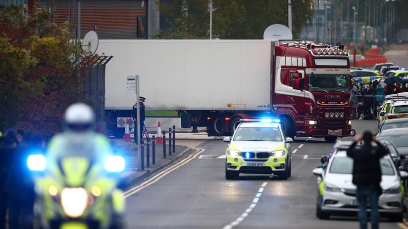 Los 39 muertos encontrados en un camión cerca de Londres eran chinos