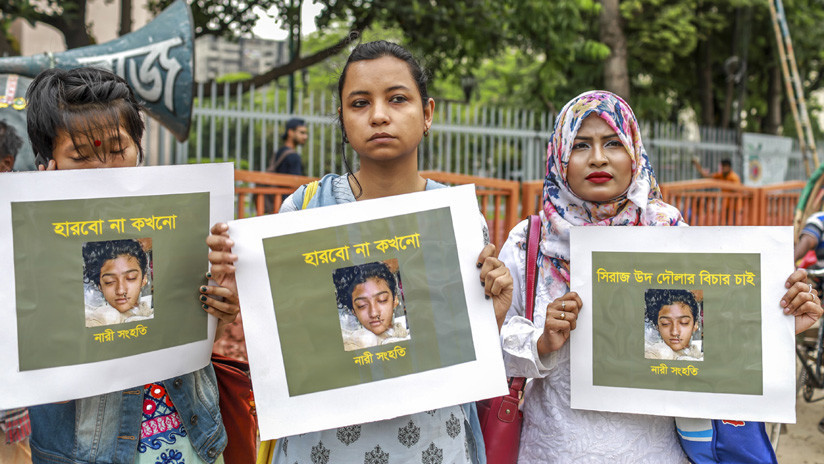 Condenan a muerte a 16 personas por quemar viva a una joven que denunció acoso sexual en Bangladés