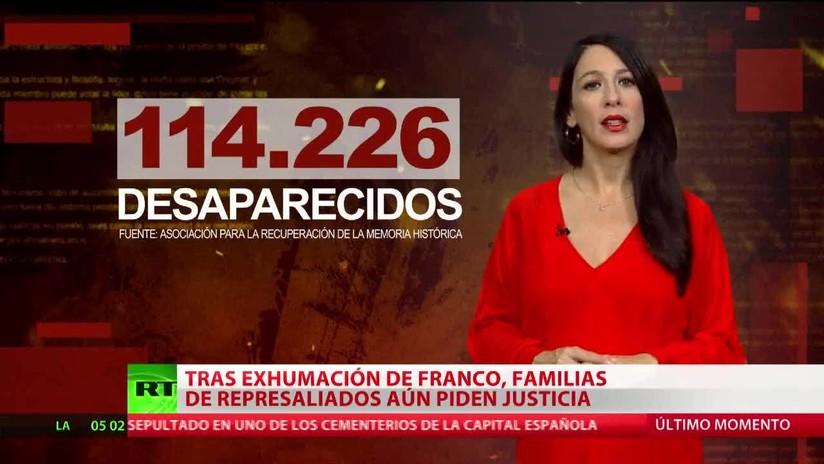 Tras la exhumación de Franco, familias de represaliados piden justicia