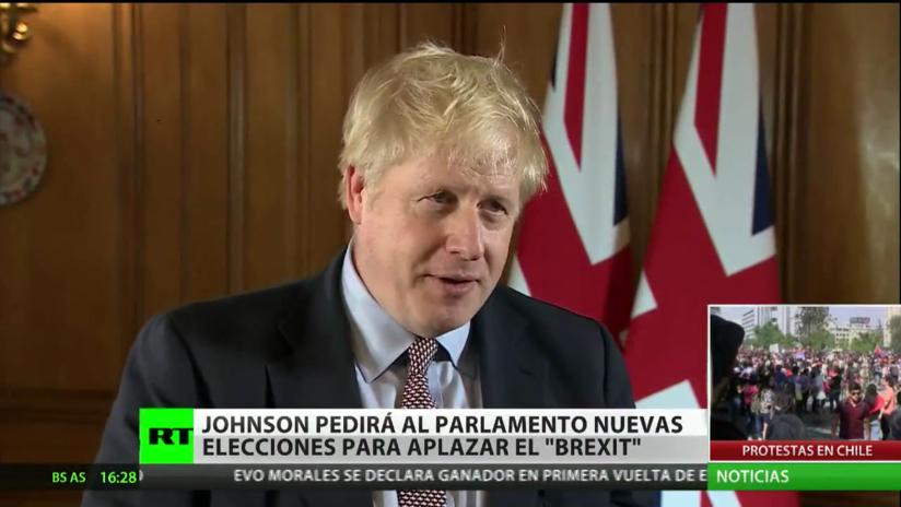 Boris Johnson solicitará al Parlamento británico nuevas elecciones para aplazar el Brexit