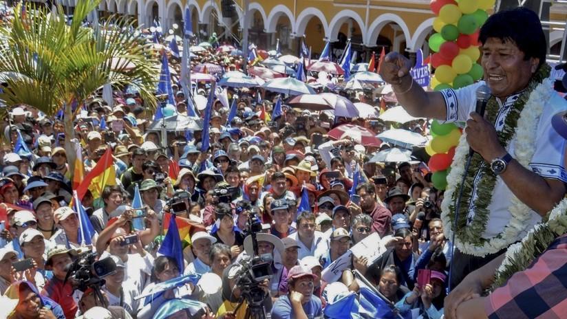 Conteo oficial confirma la victoria de Evo Morales en Bolivia sin necesidad de segunda vuelta