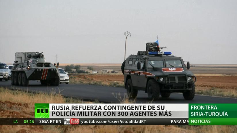 Rusia envía más policías militares a la frontera turco-siria
