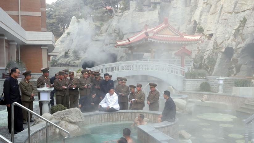 FOTOS: Kim Jong-un visita un balneario en construcción en una zona turística de Corea del Norte