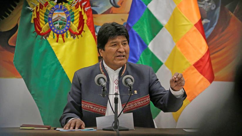 """Evo Morales a la comunidad internacional: """"Tienen la obligación de respetar nuestra Constitución"""""""