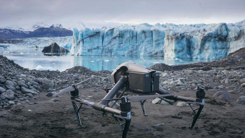FOTOS: Imágenes aéreas hechas con una diferencia de 40 años muestran el dramático derretimiento de los glaciares de Islandia