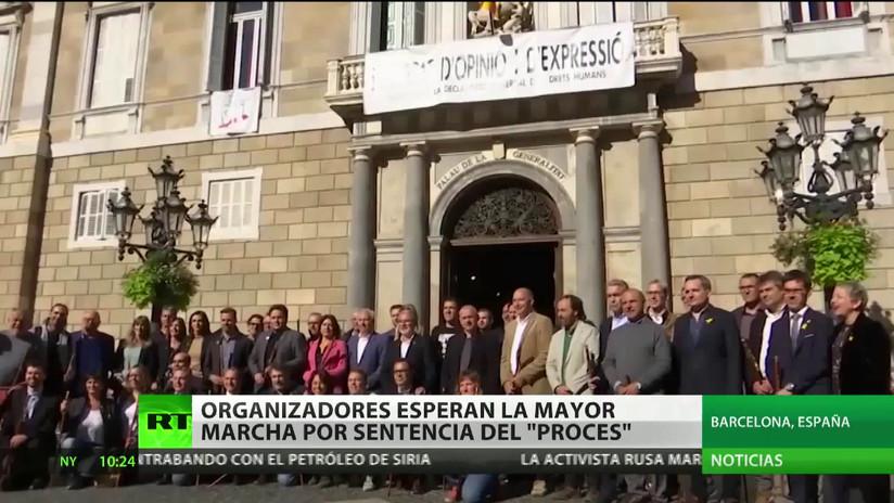 Convocan en Barcelona una marcha que se espera sea la mayor de todas tras el fallo del 'procés'