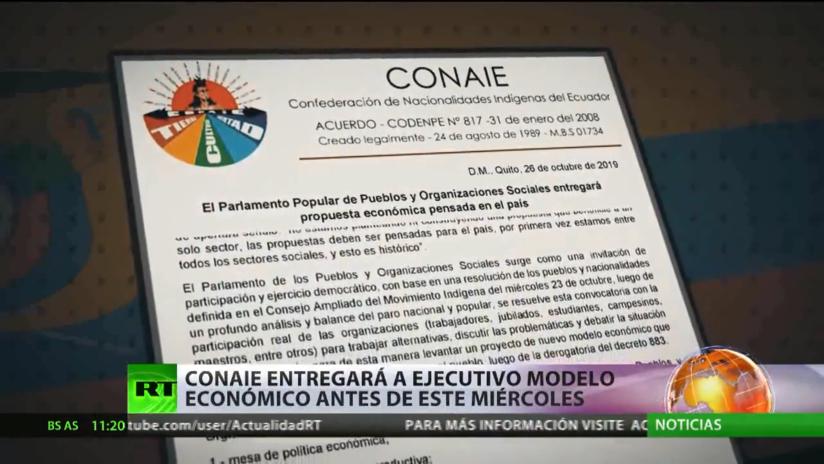 La organización de indígenas de Ecuador entregará su modelo económico al Ejecutivo