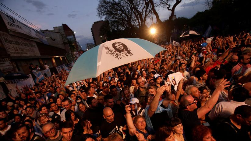 FOTOS: Miles de argentinos celebraron el triunfo de Fernández en primera vuelta