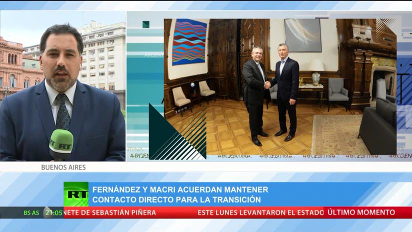 Fernández y Macri acuerdan mantener contacto directo para la transición