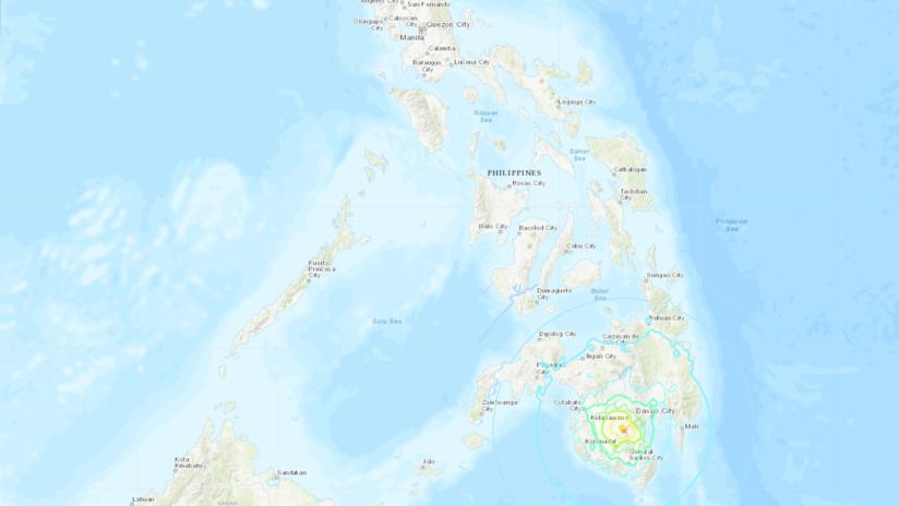 Un potente sismo de magnitud 6,6 sacude Filipinas