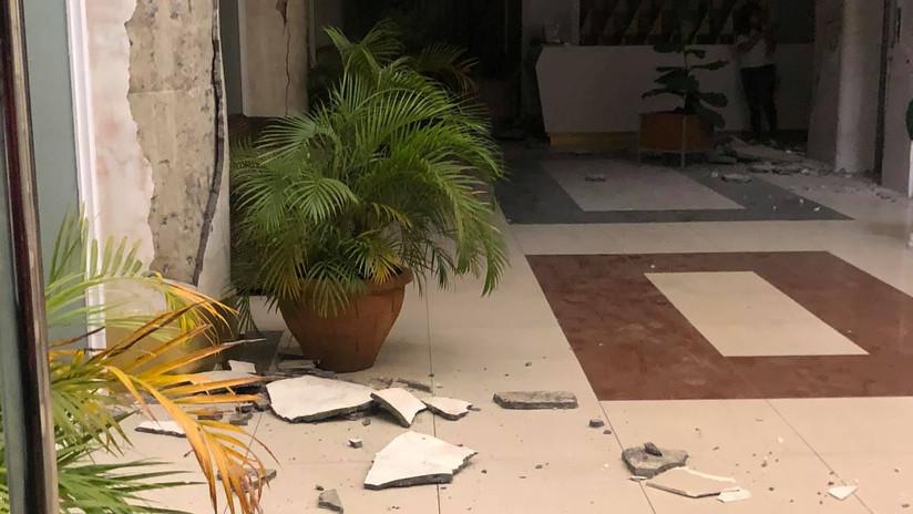 VIDEO: Empleados de una oficina gritan y corren desesperados durante el terremoto de magnitud 6,6 en Filipinas