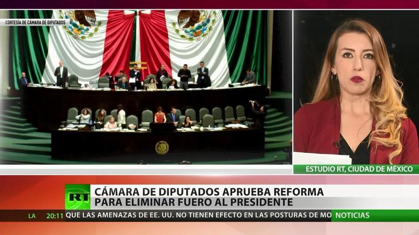 La Cámara de Diputados de México aprueba reforma para la eliminación del fuero al presidente