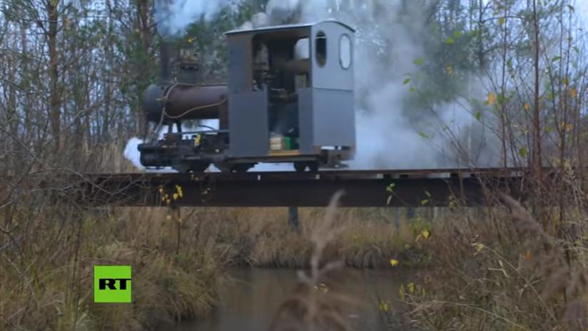 Ingeniero ruso construye un tren a vapor de diseño propio (VIDEOS)