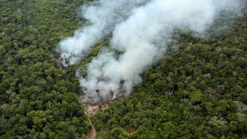 """Bolsonaro: """"La Amazonía no está en llamas, no hay manera de que se incendie"""" (VIDEO)"""