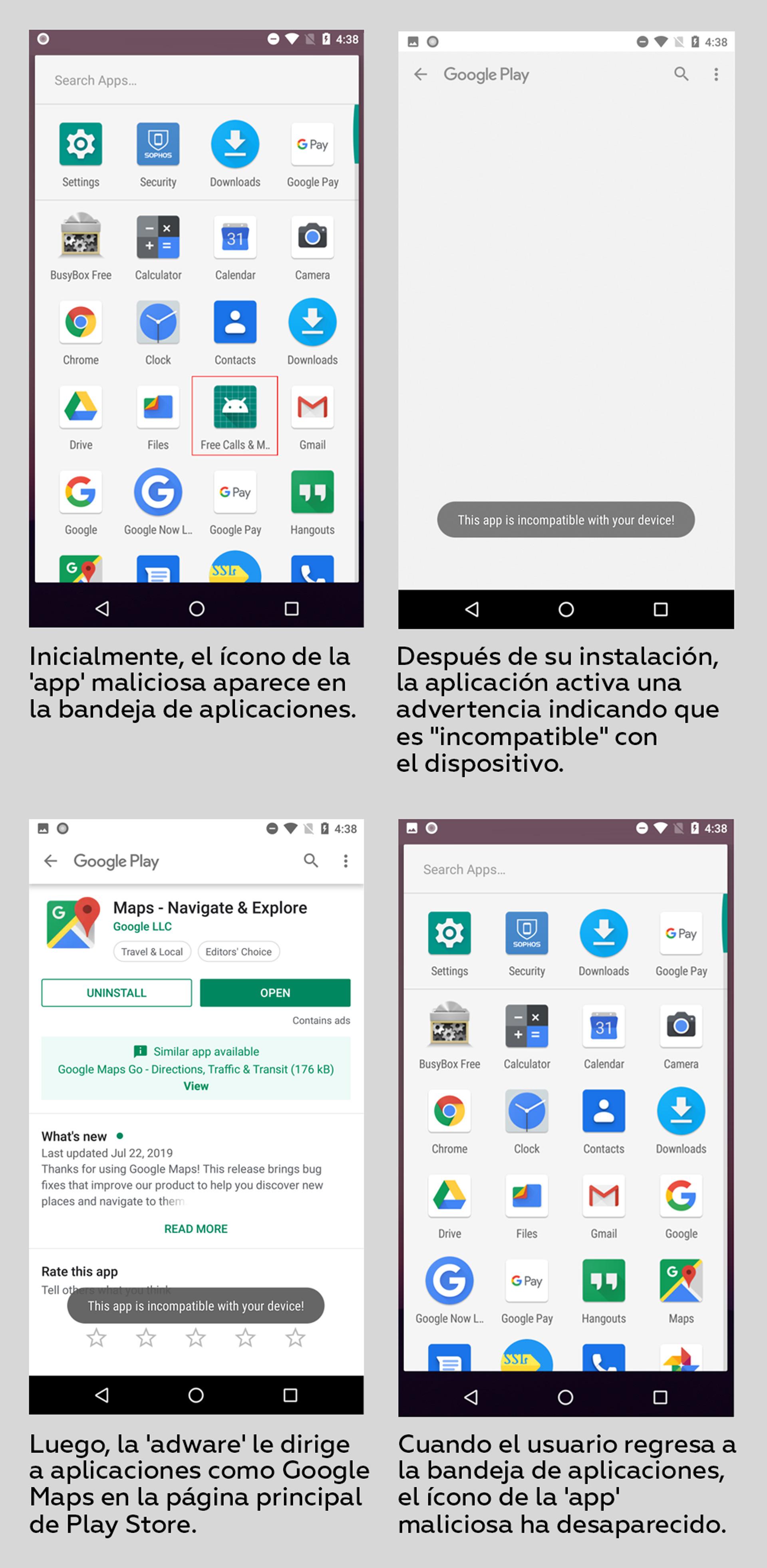 Advierten que aplicaciones maliciosas de publicidad agresiva se ocultan en los dispositivos Android