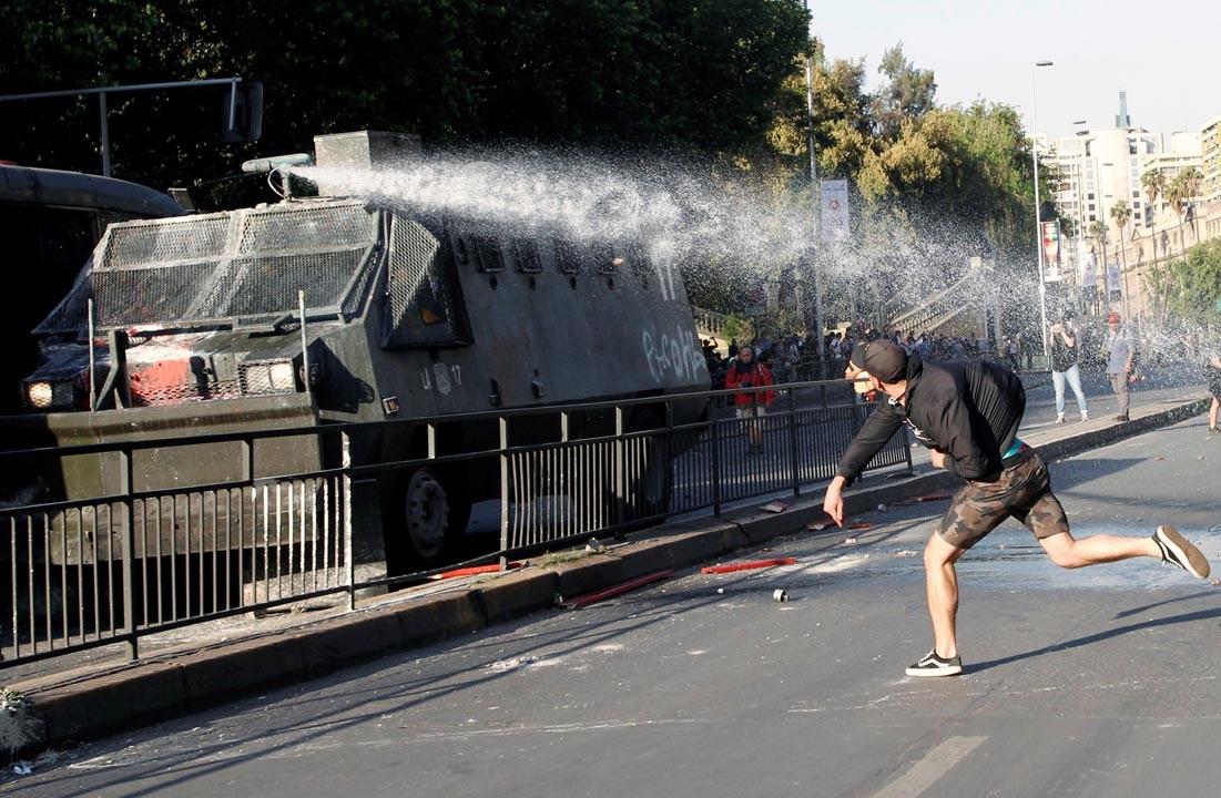 Militarizada Santiago de Chile ante protestas populares