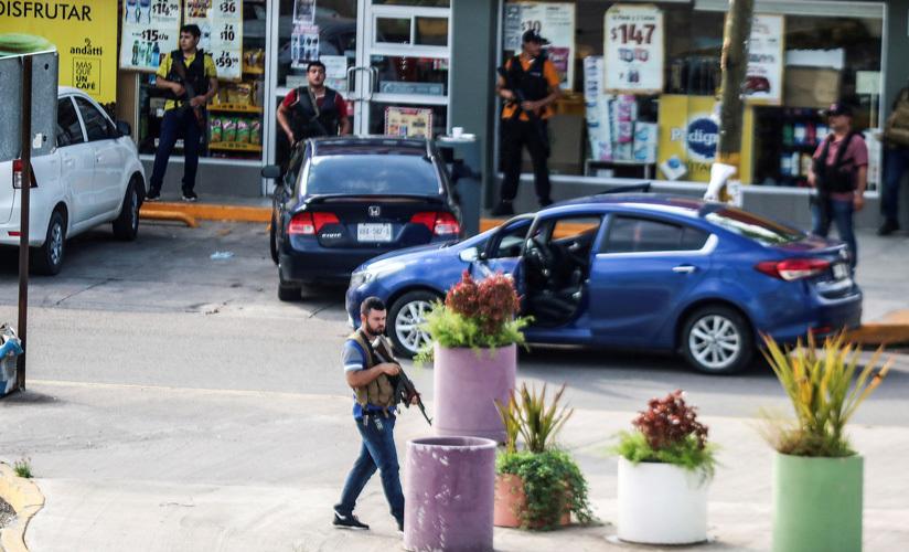 Integrantes del Cártel de Sinaloa salen a las calles tras la detención de Ovidio Guzmán. Culiacán, Sinaloa, México, 17 de octubre de 2019.