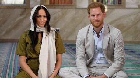El príncipe Enrique y su esposa Meghan Markle.