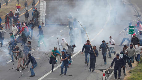 """Protestas en Ecuador contra el """"paquetazo"""" de Moreno, octubre 2019."""