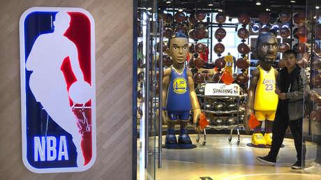 Una tienda de la NBA en Pekín, China, el 8 de octubre de 2019.