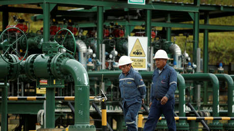 Campo petrolero de la estatal ecuatoriana Petroamazonas, en Yasuní, Ecuador.