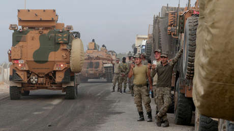 Soldados turcos en la provincial de Sanliurfa, Turquía, el 11 de octubre de 2019.