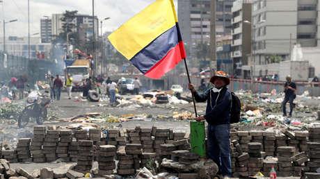 Protestas contra las medidas de austeridad de Moreno, en Quito, Ecuador, 13 de octubre de 2019.