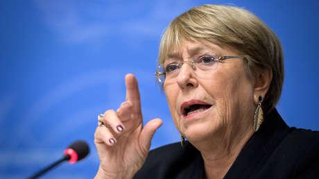 La alta comisionada de la Organización de Naciones Unidas para los Derechos Humanos (ACNUDH), Michelle Bachelet.