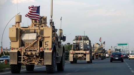 Convoyes de vehículos estadounidenses en el norte de Siria.