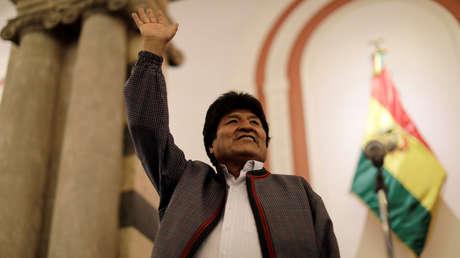 El presidente de Bolivia, Evo Morales, en La Paz, el 20 de octubre de 2019
