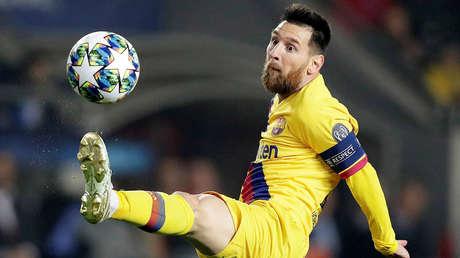El jugador del F.C. Barcelona, Lionel Messi, en el Eden Arena, Praga, República Checa, 23 de octubre de 2019