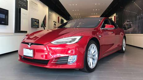 Un auto Model S de Tesla.