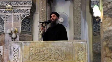 Líder del grupo terrorista Estado Islámico, Abu Bakr al Baghdadi